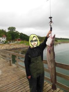 Der größte Fisch des Urlaubs - Meiner! :D