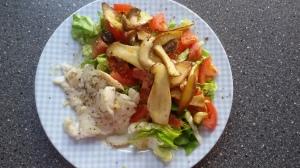 Kabeljaufilet & Salat