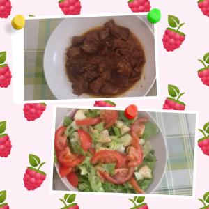 Gulasch & Salat